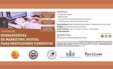Capacitación: Marketing digital para prestadores turísticos