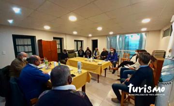 El Director de Turismo junto al Intendente Sánchez en Orense